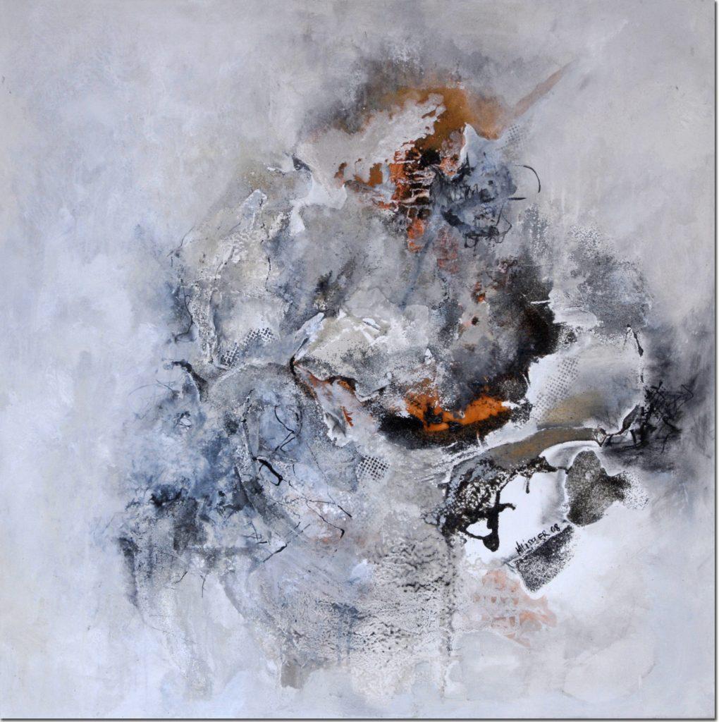 Tanz auf dem Vulkan | 90 x 90 cm | 2008