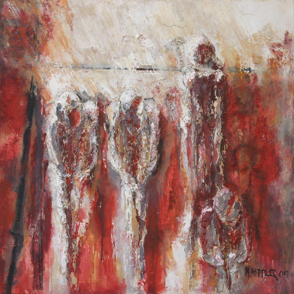 Auf der Bühne des Lebens | 80 x 80 cm | 2005